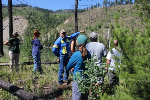 Interns and JCP participants learn about archeological assessments