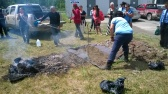 Pit fire at Simpcw Health and Wellness day